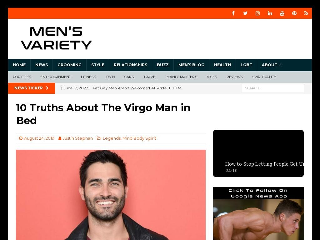 10 Truths About The Virgo Man in Bed